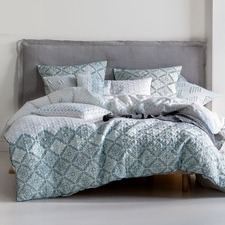 Aqua Dulce Cotton Quilt Cover Set