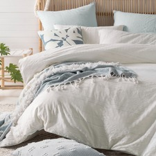 Blue Hydra Cotton Quilt Cover Set
