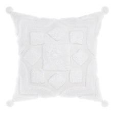 White Palm Springs Cotton Cushion