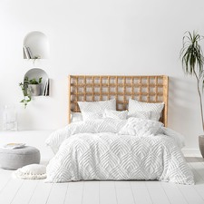 White Palm Springs Cotton Quilt Cover Set