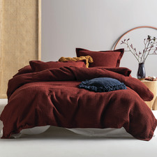 Brick Deluxe Waffle Cotton Quilt Cover Set