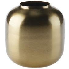 Gold Kamille Metal Vase