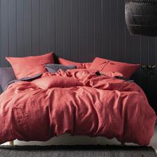Sangria Nimes Linen Quilt Cover Set