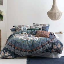 Block Printed Wategos Cotton Quilt Cover Set