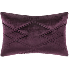 Wine Quilted Vita Cotton Cushion