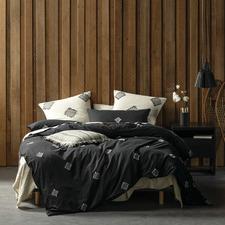 Black Willshaw Cotton Quilt Cover Set