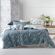 Blue Thelma Cotton Quilt Cover Set