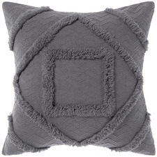 Charcoal Adalyn Cotton Cushion