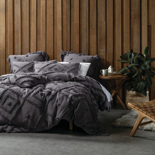 Charcoal Adalyn Cotton Quilt Cover Set