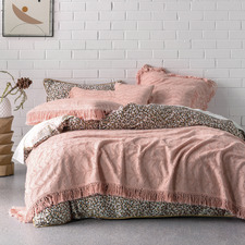 Pink Shani Cotton King Bed Cover