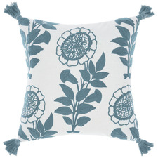 Blue Thelma Cotton Cushion