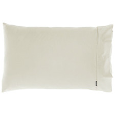 Taupe Augusta Cotton Standard Pillowcase