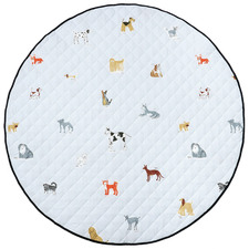 Blue Dogs For Days Reversible Cotton Playmat