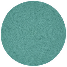 Aqua Round Plait Cotton Placemat
