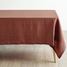 Rust Nimes Linen Table Cloth