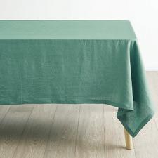 Sea Foam Nimes Linen Table Cloth