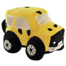 Yellow Kalahari Safari Truck Novelty Cushion