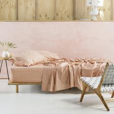 Peach Cleopatra Cotton Sheet Set