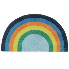 Blue Rainbow Magic Cotton Floor Mat