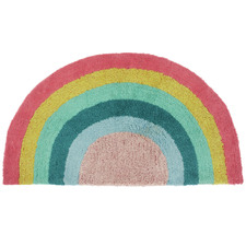 Pink Rainbow Magic Cotton Floor Mat