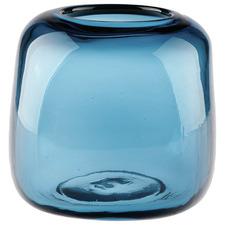 22cm Blue Indiana Glass Vase