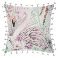 Mint Lorena Cotton Cushion