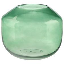 20cm Green Verde Glass Vase