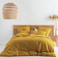 Chai Nimes Linen Quilt Cover Set