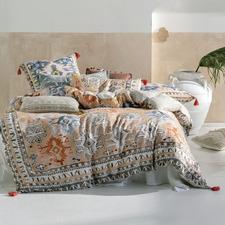 Peach Fransisca Cotton Quilt Cover Set