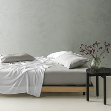 White Tencel Bed Sheet Set