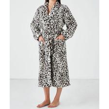 Leopard Plush Women's Bath Robe