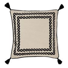 Black Cavallino Cotton-Blend Cushion