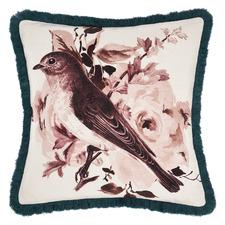 Multi-Coloured Reversible Primrose Cotton Cushion