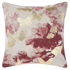 Terracotta Butterfly Floriane Cotton Cushion