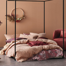 Terracotta Heath Velvet Quilt Cover Set