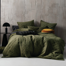 Olive Heath Velvet Quilt Cover Set
