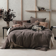Mocha Elysian Cotton Quilt Cover Set