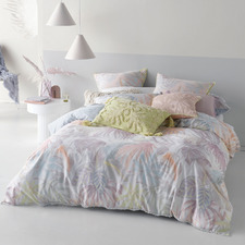 Utopia Sky Cotton Sateen Quilt Cover Set
