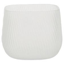 14cm White Novo Glass Vase