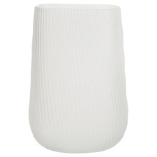 24cm White Novo Glass Vase