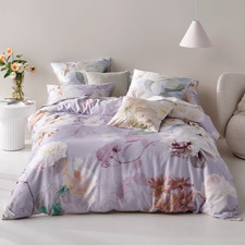 Lilac Annella Cotton Sateen Quilt Cover Set