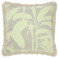 Teal Habitation Cotton Cushion
