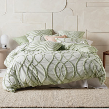 Wasabi Amadora Cotton Chambray Quilt Cover Set