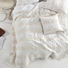 Sugar Moonrise Cotton King Bed Cover