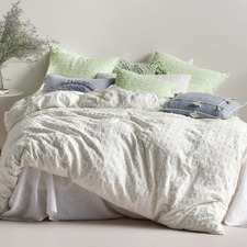 Mint Benedita Cotton Quilt Cover Set
