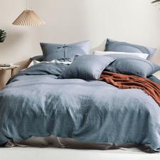 Nightfall Nimes Linen Quilt Cover Set