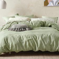 Wasabi Nimes Linen Quilt Cover Set