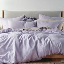Lilac Nimes Linen Quilt Cover Set