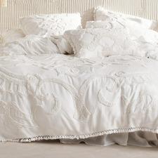 White Rapallo Cotton Quilt Cover Set