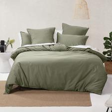 Moss Nara Cotton & Bamboo Quilt Cover Set